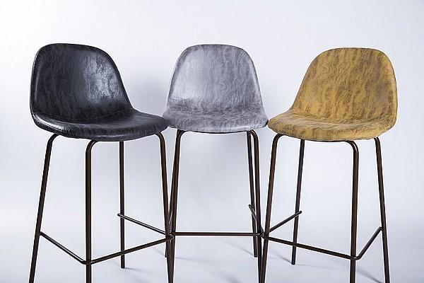 מיוחדים take-it |כסא בר בעיצוב מודרני מושב מרופד ורגלי מתכת. דגם BA7 MU-26